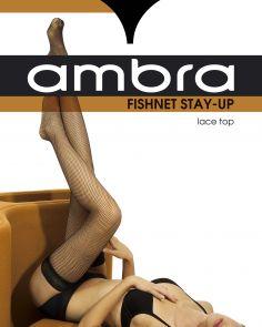 Ambra Fishnet Stay Up FISNTSU Black