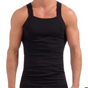 2xist Essentials Square Cut Tank Top 2 Pack 20227 Black