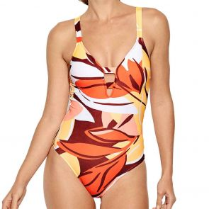 Seafolly Cut Copy Deep V One Piece Malliot 10634-614 Tangelo