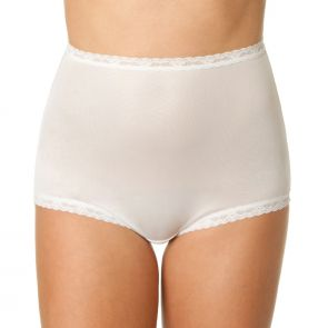 Bendon Nylon Tricot Full Brief 13-17 White