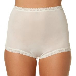 Bendon Nylon Tricot Full Brief 13-17 Champagne