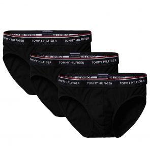 Tommy Hilfiger Premium Essentials Cotton Stretch Brief 3-Pack 1U87903766 Black