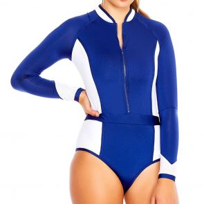 Aqua Blu Back To Basics Sportopia Swim One Piece A8017BB Royal
