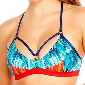 Aqua Blu Instinct Strap Front Swim Bralette A8068IN Multi