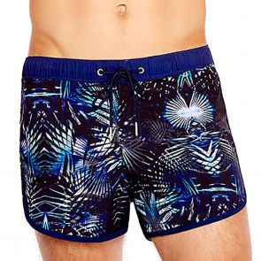 Aqua Blu Mens Tropic Running Swim Shorts AM8004 Tropics