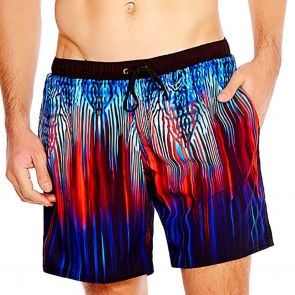 Aqua Blu Mens Swim Boardshorts AM8008 Solar