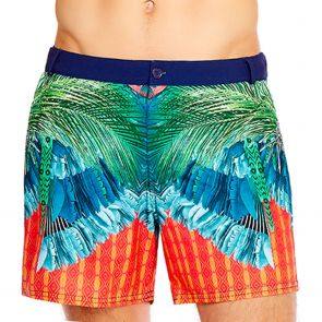Aqua Blu Mens Instinct Resort Swim Shorts AM8022IN Multi