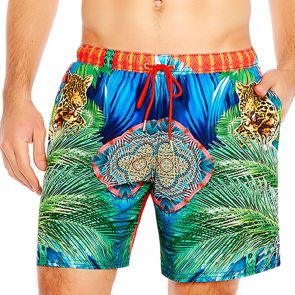 Aqua Blu Mens Instinct Swim Boardshorts AM8023IN Multi