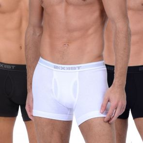 2xist Essentials Boxer Brief 3 Pack 20304 White/Black/Heather Grey
