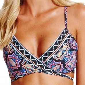 Seafolly Sun Temple Wrap Booster Bikini Top 30834-200 Black