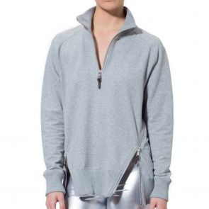 LEVEL Jules Unisex Panelled Sweat L2418 Grey Marle