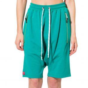 LEVEL Mason Dropped Crotch Zipper Short L5218 Jade