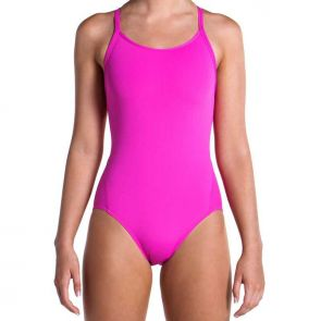 Funkita Still Pink Ladies Diamond Back One Piece Swimsuit Still Pink FS11L00471