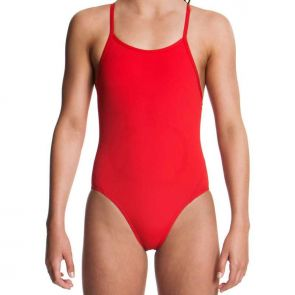 Funkita Girls Still Red Diamond Back One Piece Still Red FS11G00467