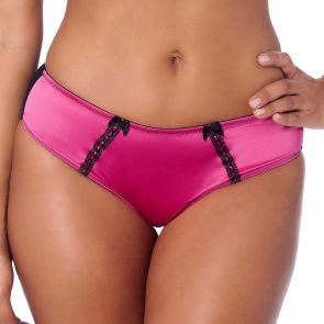 Creme Bralee Amanda Bikini Brief Raspberry/Black 12336P