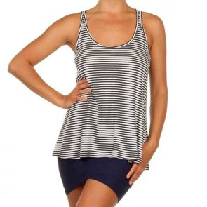 Betty Basics Santorini Swing Tank Navy/White Stripe BB417