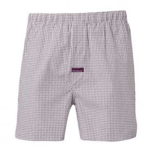 Mitch Dowd Woven Cotton Gingham Check Boxershort Charcoal Q957