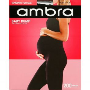 Ambra Baby Bump 200D Footless Tight AMBB200FTL Black
