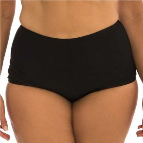 Capriosca Plain Matt High Waisted Pant Black CP9502