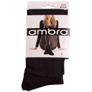 Ambra Hosiery Sock Tight Black AMSOCAKTI