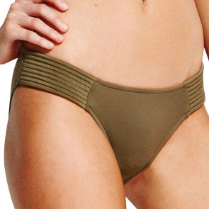 Seafolly Quilted Hipster Bikini Pant 40463-065 Dark Olive