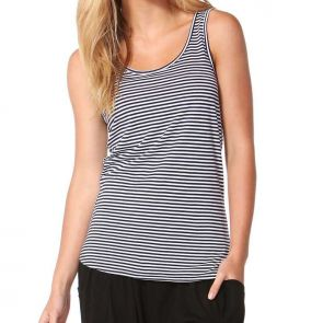 Betty Basics Miami Tank Navy/White Stripe BB502