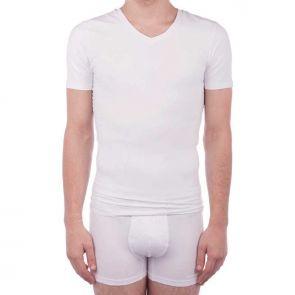 Ambra Man Compression T-Shirt White MJ1580MT