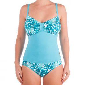Aqua Blu Calypso D/DD Cup Tankini Top Turquoise Mix A5081CL