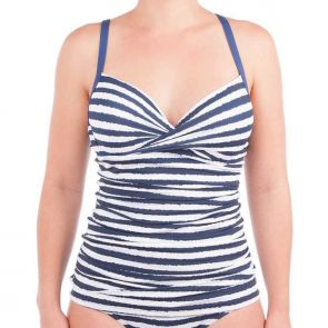 Moontide Brush Off Wrap Underwire Tankini Top Jeans M3009BO