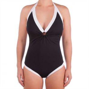 Sunseeker La Luna Double Ring One Piece Swimsuit Black SS50487
