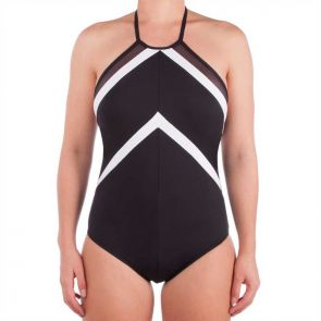 Sunseeker La Luna High Neck One Piece Swimsuit Black SS50489