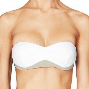 Stella McCartney Swim Iconic Colour Block Bandeau Wirefree Top Black/Stone/White S546-0006S
