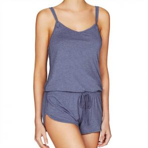 Heidi Klum Intimates Cozy Mornings Teddy Colony Blue Marl H90-1376A