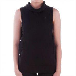 Running Bare Grace Cowl Neck Vest Black 6S15248E
