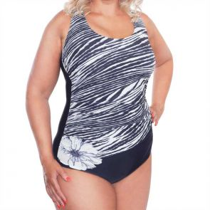 Genevieve Swimwear Night Tide Mastectomy Scoop One Piece Night Tide 963MNT