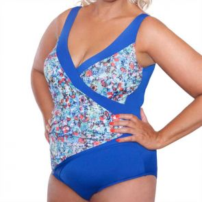 Genevieve Swimwear Monet Contrast One Piece Monet CR687MO