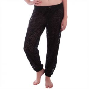 Aqua Blu Luxe Lace Pants Black A6054LX