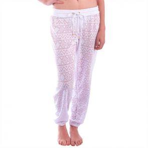 Aqua Blu Luxe Lace Pants White A6054LX