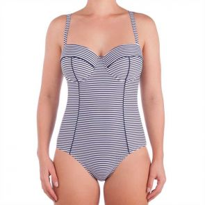 Nip Tuck Swim Sorrento Stripe D/DD Cup Underwire One Piece Navy/White NT1020SO