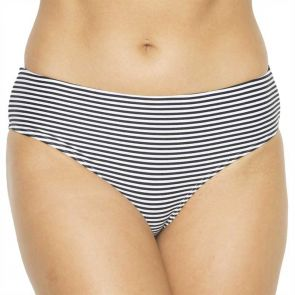 Nip Tuck Swim Sorrento Stripe Bikini Brief Black/White NT4015SO