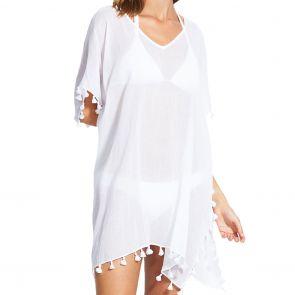 Seafolly Beach Basics Amnesia Kaftan 52162 White