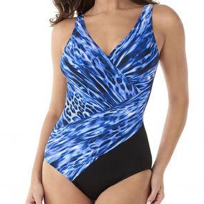 Miraclesuit Swimwear Lynx Lazuli Oceanus One Piece 6522788 Blue