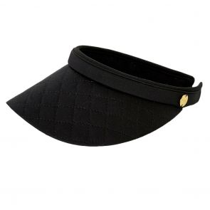 Seafolly Quilted Visor 71365-HT Black