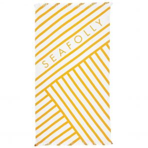 Seafolly Angled Stripe Beach Towel 71469TL Buttercup