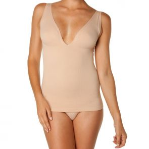 Nearly Nude Extra Low Tank Nude NNETLVNECK
