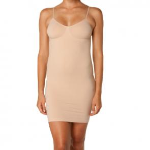 Nearly Nude Skinny Strap Dress Nude NNSLISLIP