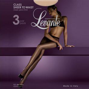 Levante Class Sheer To Waist 3 Pack CLA3PHSTW Nero