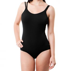 Funkita Form Still Black Split Strap One Piece Swimsuit Black FF01L00079