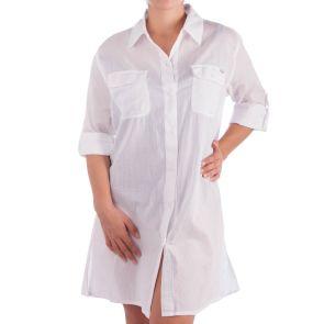 Jantzen Apparel Classic Longline Shirt White JA90606
