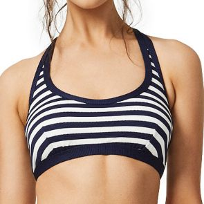 Moontide Above Board Underwire Scoop Neck Top M6484AB Navy